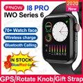 Оригинальные Смарт-часы Finow I8 Pro 2021 дюйма iwo13 с gps PK iwo W56 Беспроводная зарядка Кнопка кодировщика Bluetooth Вызов для Android IOS