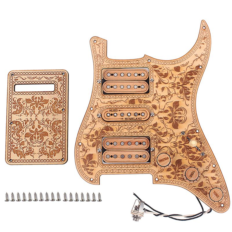 1 Set Electric Guitar HSH Pickguard Anti scratch Plate Maple Wired Humbuckers Pickup Musical Instrument Accessory