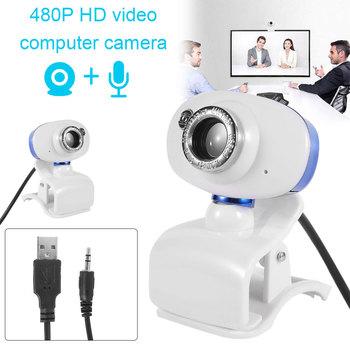 Willkey Webcam minikomputer kamera PC dysk USB-darmowe wbudowane mikrofony do transmisji na żywo wideo wywołanie konferencji tanie i dobre opinie 640x480 CMOS