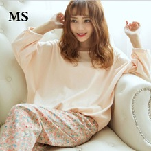 MS Autumn and winter cute pajamas set ladies large cartoon animal long sleeve suit womens home new