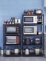 Stainless steel microwave oven rack oven kitchen rack floor multi layer pot rack storage rack shelf storage cabinet
