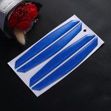 4 sztuk PET ochronna krawędź do drzwi samochodu naklejka ochronna na drzwi samochodu odblaskowe drzwi Anti-Rub paski drzwi samochodu zabezpieczenie przed zarysowaniem (niebieski)