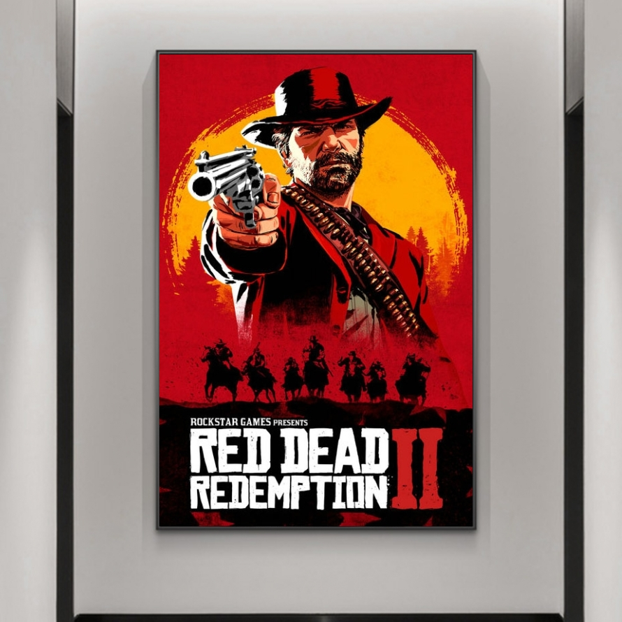 HD Print Red Dead Redemption 2 Posters Wall Art Canvas Print Pictures Modern Movie Art Decorative for Living Room