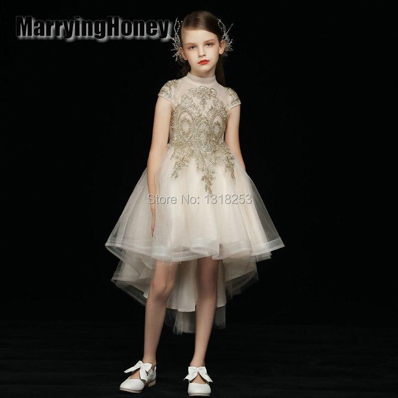 Une ligne fleur fille robes pour la fête de mariage petite fille princesse robe formelle 2019 nouveau blanc enfants anniversaire robe de bal en Stock