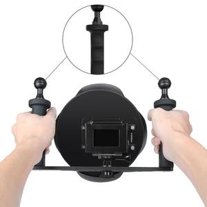 Image 2 - SHOOT funda impermeable para GoPro Hero 7 6 5, bandeja estabilizadora, funda de cúpula de buceo negra, accesorios para GoPro 7 6