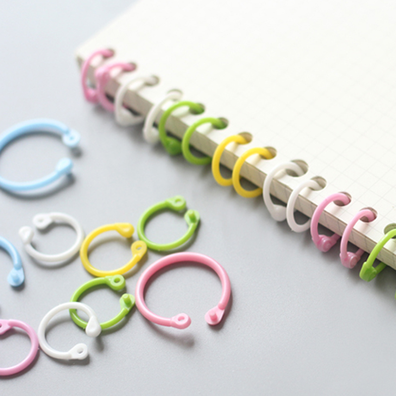 Colorful Plastic Circle Ring Multi-Function Creative DIY Loose-Leaf Binder Calendar Ring Keychain Key Ring Stationery