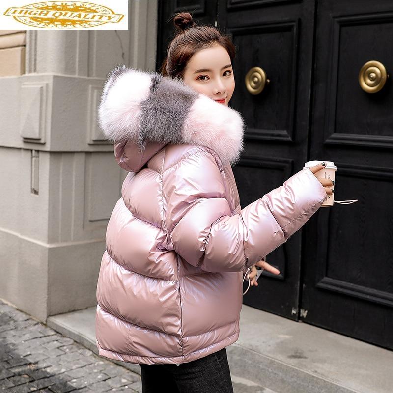 Down Jacket Women Clothes 2019 Winter Coat Women Fox Fur Collar Parka Female Korean Puffer Jackets Chaqueta Mujer MY1560