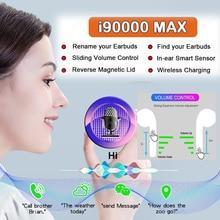 i90000MAX TWS Arie 2 Wireless Earphone 8D Super Bass Bluetooth 5.0 Earphone Sliding Volume Adjustmen