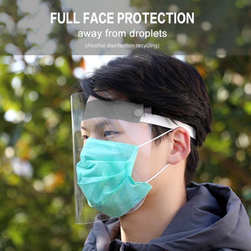 Splash-proof Foam-proof Protecitive Face Shield Transparent Child Adult Full Face Adjustable Mask Anti-smoke Face Protection