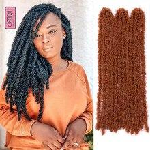 YunRong – tresses synthétiques au Crochet, 12 racines, Extension de cheveux, fausse Locs, pour femmes noires