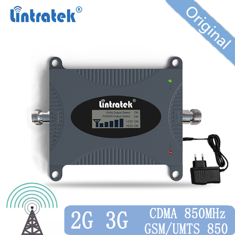 CDMA Repeater 850 MHz Signal 2G 3G 4G 850mhz UMTS GSM CDMA Mobile Phone Signal Repeater Booster Cell Phone Signal Amplifier 20