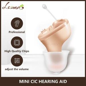 Image 1 - Mini audífono ajustable, ayuda auditiva pequeña en el oído Invisible mejor amplificador de sonido utensilios para el cuidado del oído Dropshipping