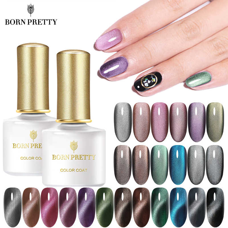 Lahir Cukup Magnetik 5D Cat Eye Uv Gel Nail Polish Semi Permanen Rendam Off Magnet Jade Efek Gel Varnish 6ml Hitam Dasar Perlu