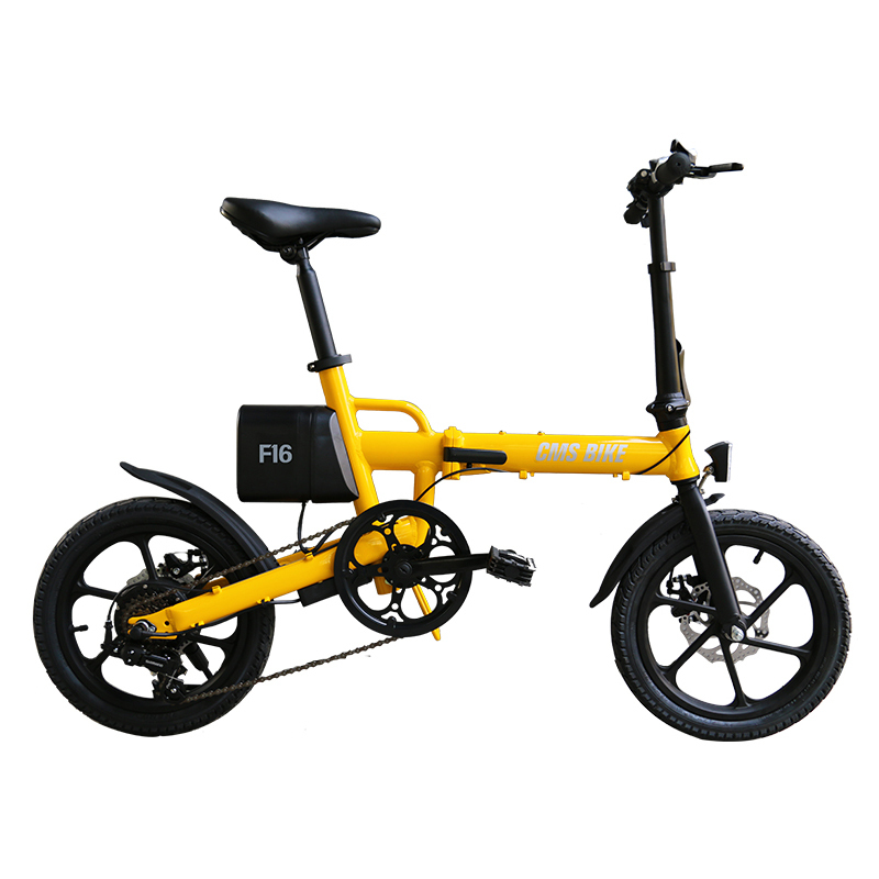 CMS ebike F16 city electric folding bike with lithium battery 1