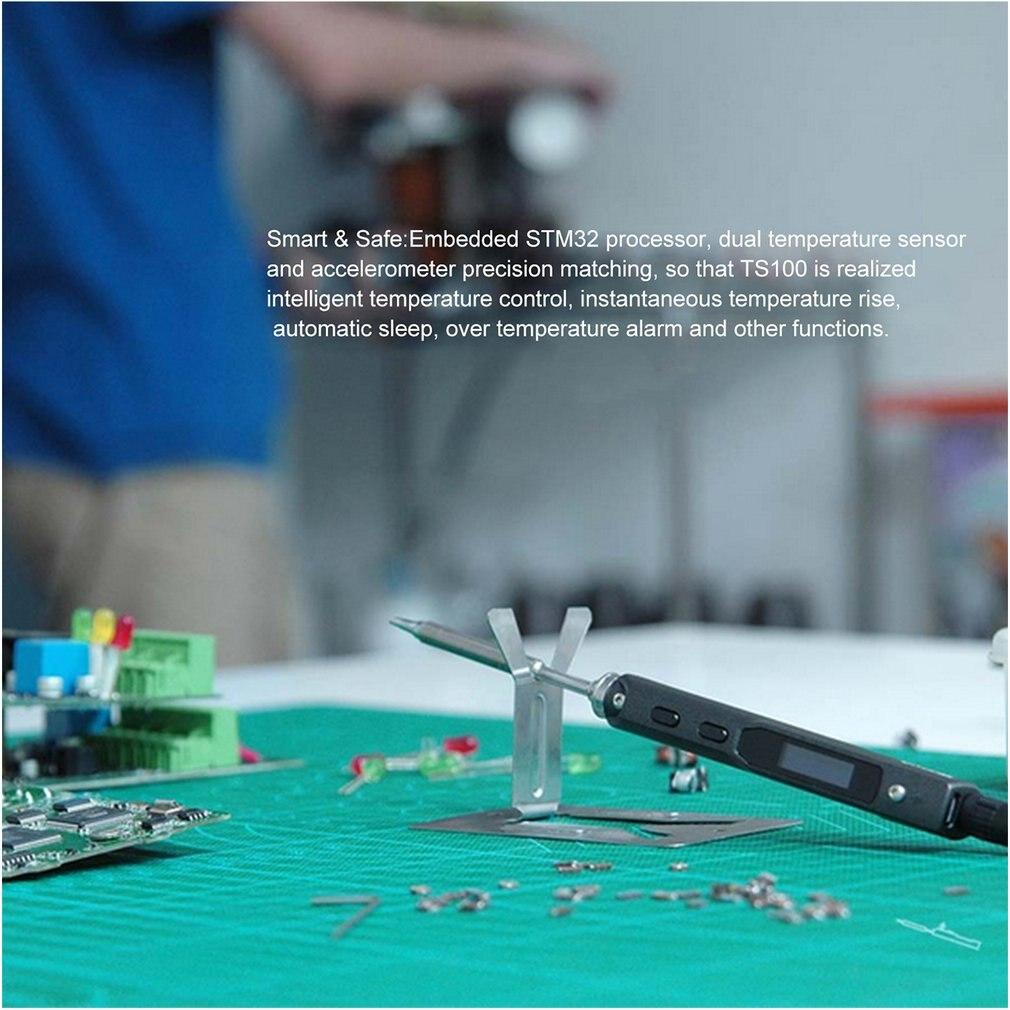TS100 40W Mini Digital OLED Programmable Electric Soldering Iron Station Kit Smart Temperature Control Repairing Welding Tools Pakistan