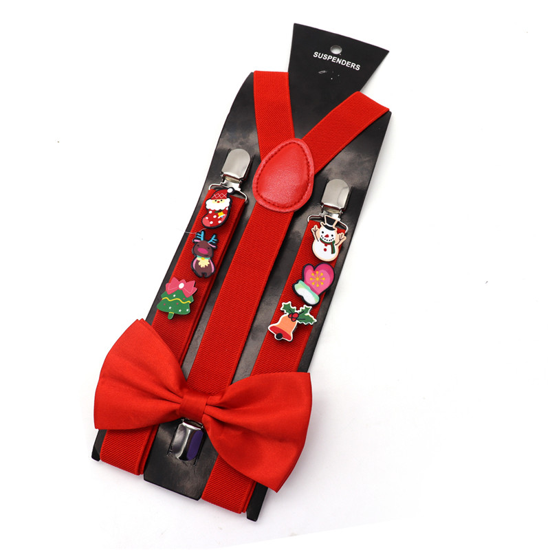 Men Suspender Suit Shirt Stay Pants Suspender Belt Gentlemen Braces Christmas Badge 3 Clips Shirt Holder Clothes Accessories