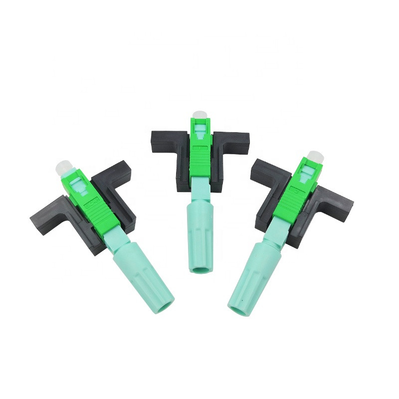 100 PCS/ Lot 58MM SC APC SM Single-Mode Optical Connector FTTH Tool Cold Connector High Quality Tool Fiber Optic Holesales Price