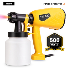HILDA Electric Spray Gun 800ml HVLP Household Paint Sprayer Electric Airbrush Easy Spraying Cars Wood Furniture Wall Wood