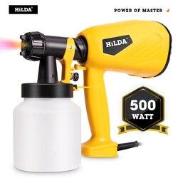 HILDA Elektrische Spritzpistole 800ml HVLP Haushalt Farbe Sprayer Elektrische Airbrush Einfach Spritzen Autos Holz Möbel Wand Holz