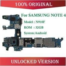 32 Гб разблокирован для samsung Galaxy Note 4 N910F материнская плата, европейская версия для Note 4 N910F материнская плата
