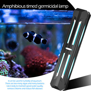 Waterproof Fish Tank UV Portable Lamp Timing LED Sterilizing Disinfection ProtectionHousehold Bactericidal Lights