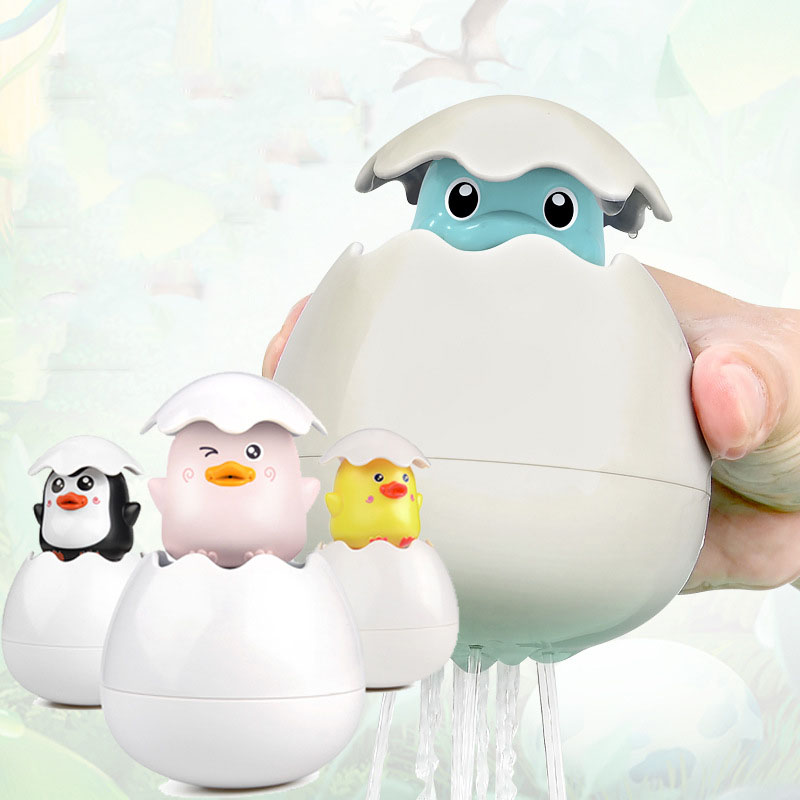 Baby Bathroom, Bath Toys Bathroom Floating Spray Eggs Children Playing With Water Dinosaur Toys
