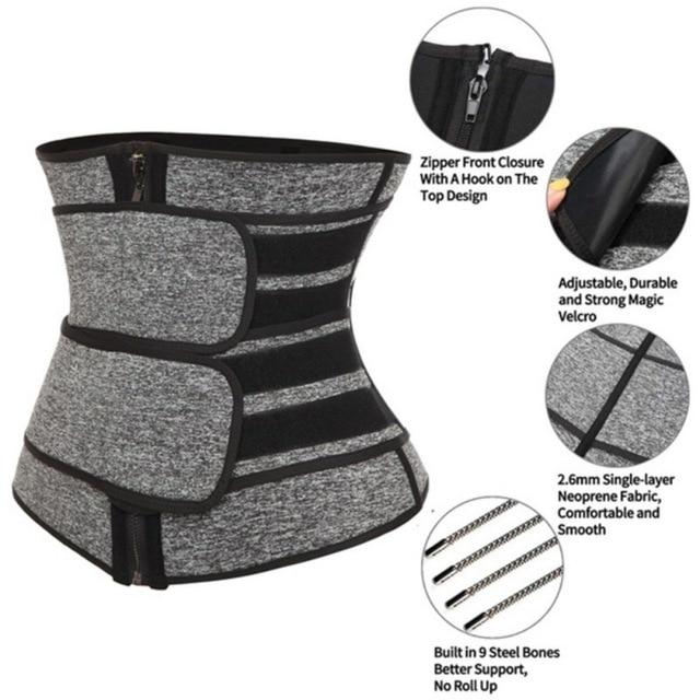 Sports fitness abdomen corset shaping belt Waist Trainer Corset Sweat Belt For Women Weight Loss Compression Trimmer Workout New 1