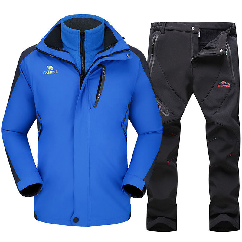 Ski Suit For Men Waterproof Windproof Thicken Warm Ski Jacket Pants Male Winter Outdoor Mountain Snow Skiing And Snowboard Suits