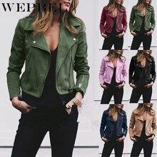 WEPBEL Autumn Ladies Fashion Basic Short Jackets Casual Wome