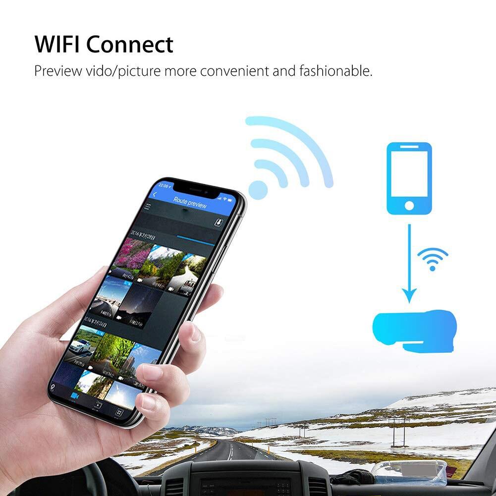 Автомобильный видеорегистратор, видеорегистратор, Wifi, 360 градусов, Full HD, 720 P, Автомобильный видеорегистратор, цифровой регистратор, видеокам...