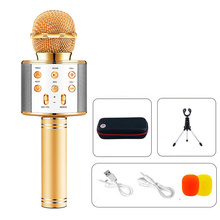 Portable Handheld mic Karaoke Wireless Bluetooth Microphone Speaker for Home Party Childrens speech Meeting Mic  Microphoes