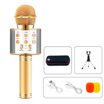 Portable Handheld mic Karaoke Wireless Bluetooth Microphone Speaker for Home Party Children's speech Meeting Mic  Microphoes oxlasers high quality 2 4g usb wireless dynamic microphone for conference teacher and speech mic free shipping