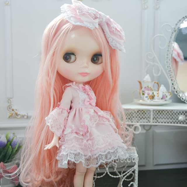 Neo Blyth Doll Customized NBL Shiny Face,1/6 OB24 BJD Ball Jointed Doll Custom Blyth Dolls for Girl, Gift for Collection NBL
