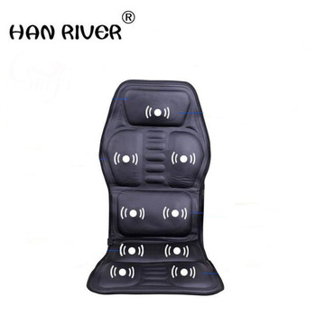 Samochód gospodarstwa domowego wielofunkcyjny masaż poduszka do pochylania na siedzeniu ogrzewanie szyjki macicy hip masażer samochodowy + wtyczka miernika tanie i dobre opinie HANRIVER