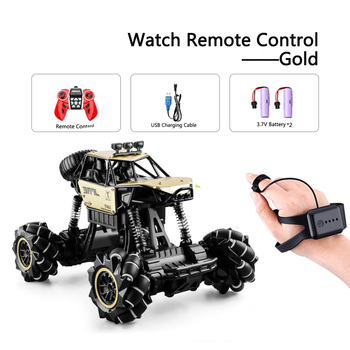 1:16 Rc Autos 4wd Uhr Control Geste Induktion Fernbedienung Auto Maschine Fur Radio-gesteuert Spielzeug Autos Stunt-Auto - RcCar001-Gold-2B