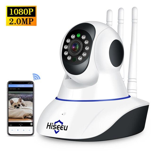 Hiseeu 1080P Wireless WIFI IP Camera HD 2MP Pan Tilt Two way Audio Night Vision Phone APP Control Motion Detection+ TF Card Slot