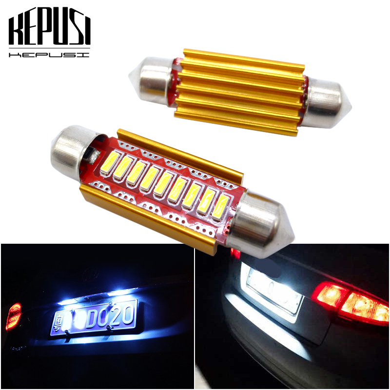 2x FESTOON <font><b>LED</b></font> BULB C5W C10W <font><b>LED</b></font> License Plate Reading Dome Lamp White For Volkswagen <font><b>VW</b></font> Golf 4 5 Passat 3B 3BG 3C CC Polo 9N <font><b>T5</b></font> image