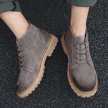 Outdoor Comfortable Men Leather Boots * For Shoes Spring & Autumn Split Fashion Casual Ankle