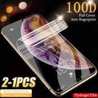 Hidrogel de película para iPhone 12 Pro Max Protector de pantalla no de vidrio Apple 11 10 8 7 6 6 S Plus X Xs X Xr SE 2020 Mini 11Pro 12Pro 8Plus