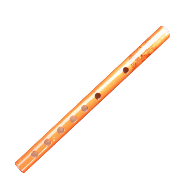 Traditional 6 Holes Bamboo Flute Vertical Flute Clarinet Student Musical Instrument Wooden Color For Kids Gift