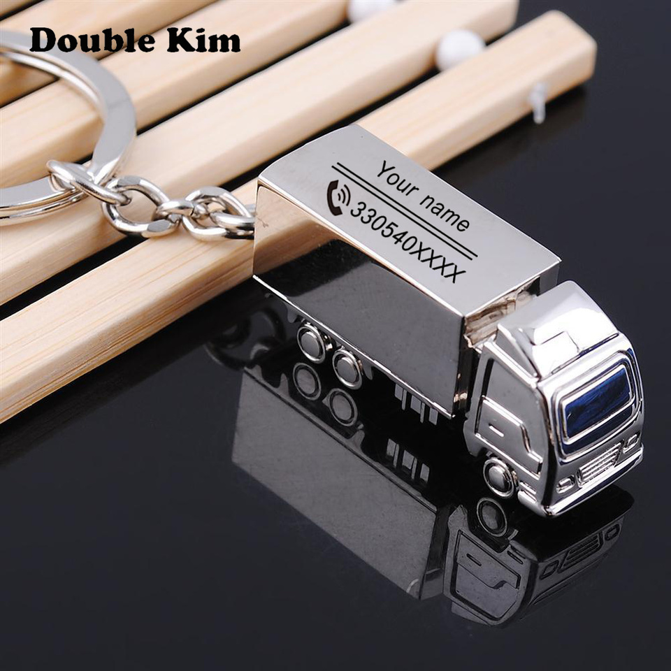 Creative Car KeyChain Customized Antilost Key Chain  Small Chic Keyring For Men Women DIY Engrave Name Customized Free Lettering