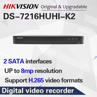 16CH 5 In 1 AHD DVR DS 7216HUHI K2 Support CVBS TVI CVI AHD Analog IP Cameras P2P Cloud H.265 HDMI video recorder RS485 Audio