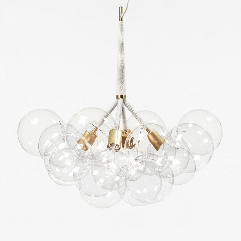 9 /12 /20 Bubbles Modern Art Molecular Glass Chandelier Fashion Designer Dinner Bedroom Kitchen Led Hanging Light Fixtures