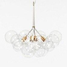 9 /12 /20 bąbelki Modern Art molekularny szklany żyrandol projektant mody obiad sypialnia kuchnia Led wisząca lampa oprawy