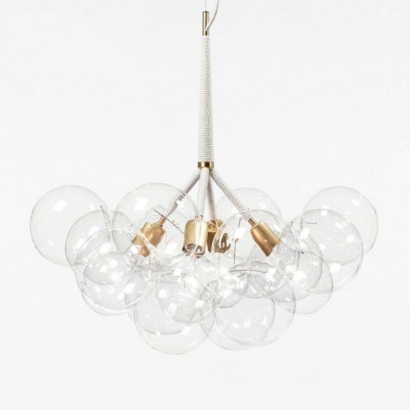 9/12/20 bulles Art moderne lustre en verre moléculaire créateur de mode dîner chambre cuisine Led luminaires suspendus