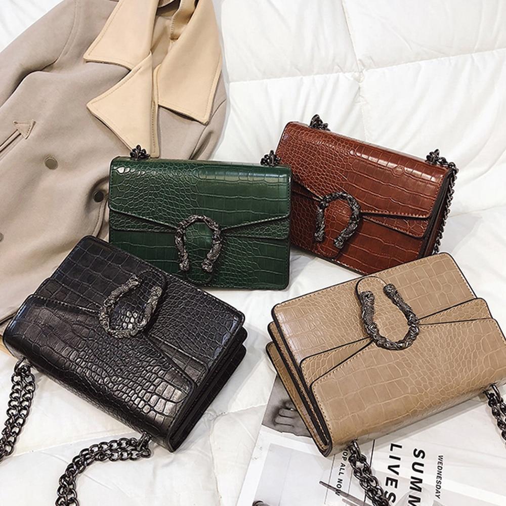 New Bag Female 2020 Fashion Wild Stone Pattern Dionysus Bag Retro Crocodile Pattern Chain Bag Shoulder Diagonal Bag
