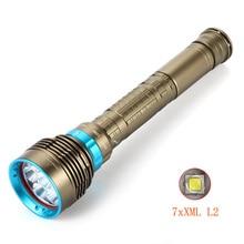 7x XM L L2 LED לומן גבוה עמיד למים צלילה פנס מתחת למים עמיד למים צוללת אור מנורת פנס לפיד