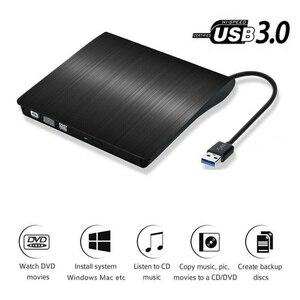 Externe USB 3,0 High Speed DL DVD RW Brenner CD Writer Schlank Tragbare Optische Stick Für Mac, win 10,8,7,XP,Vista,Laptop,PC