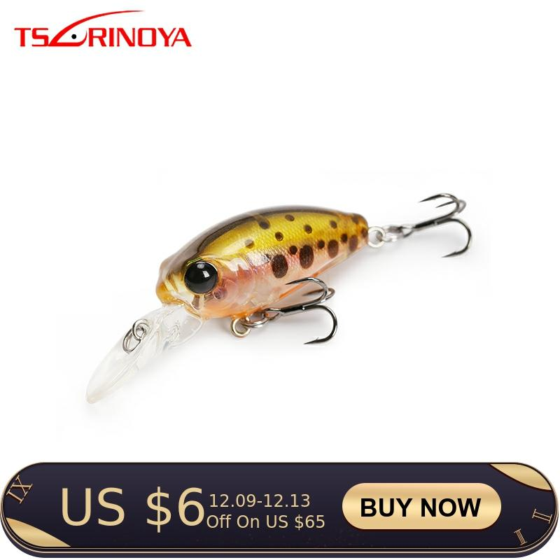 TSURINOYA Fishing Lure DW40 32mm 2.7g MINI Crank Bait Depth 1.8m Floating Artificial Bait Hard Lure 12 Colors