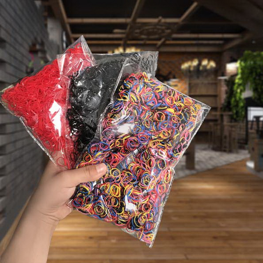 3000 pcs/ Pack Disposable Rubber Bands For Baby Kids Small Hair Tie Gum Girls Elastic Hair Ring Set Scrunchies Accessories Girl